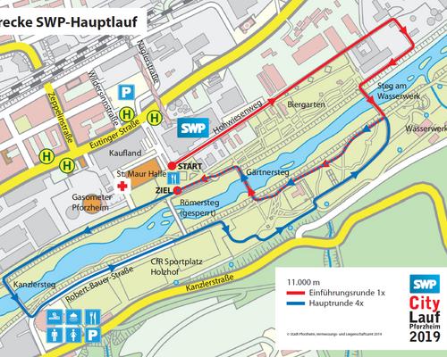 Die Streckenpläne zum SWP-CityLauf Pforzheim sind online!